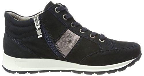 ara Damen Osaka Hohe Sneaker Blau (Blau, Titan)