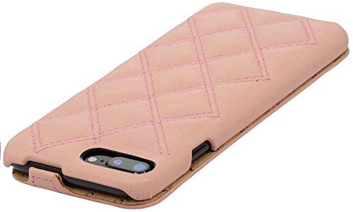StilGut UltraSlim, housse iPhone 8 Plus & iPhone 7 Plus en cuir. Etui de protection à ouverture verticale et fermeture clipsée en cuir véritable, Rose Rose clair nappa - Carat