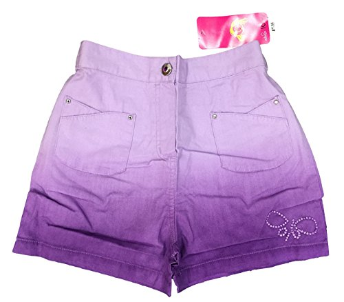 GIRLS LILAC SHORTS TWO TONE HOT PANTS COTTON ADAMS