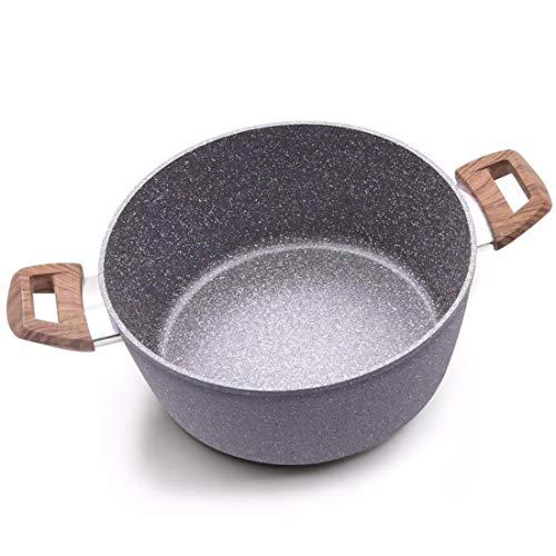 LIUXINDA-NG verdickung, doppelten Boden, Zwei Ohren, kleinen Chafing - Dish, blau -, der Herd, allgemeinen Topf 24cm Aluminium-chafing Dishes
