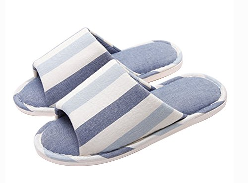 (Made By Cotton) Skidproof Le Style Simple De Pantoufles(Bleu 1)