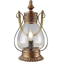 Trio Linda - Lámpara de sobremesa, E16, color antique cobre
