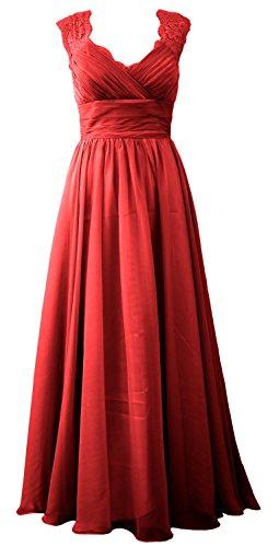 MACloth - Robe - Trapèze - Sans Manche - Femme Rouge - Bordeaux