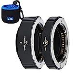 JJC X Mount AF TTL Auto Focus Metal Macro Extension Tube 11MM/16MM for Fujifilm Fuji X-Pro3 X-Pro2 X-A7 X-A5 X-T30 X-T3 X-T200 X-T100 X-H1 X-E3 SLR Cameras with Body & Rear Lens Cap Storage Pouch