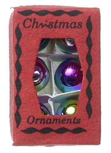 Générique Nouveauté Maison de poupée miniature Noël boules avec boîte 124