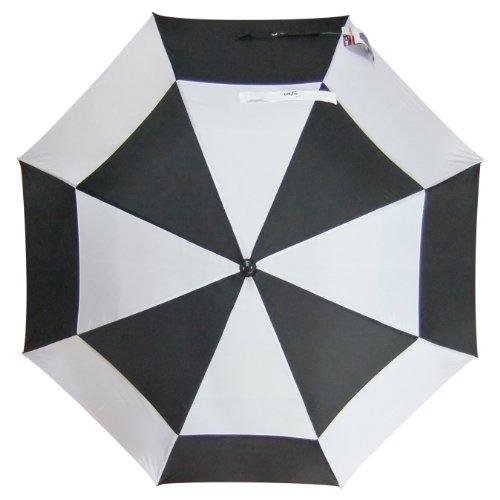 GMTee Golf Regenschirm, 157,5cm schwarz schwarz/weiß 62 Inch (Schwarz Regenschirm, Und Weiß Golf)