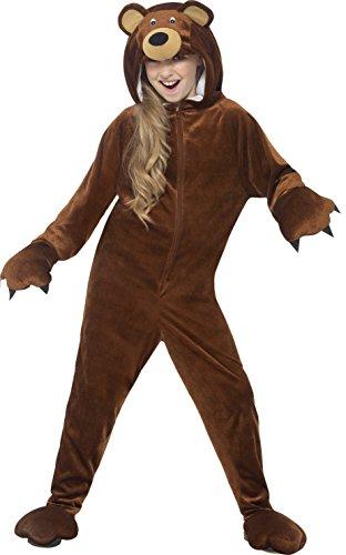 der Unisex Bären Kostüm, Alter: 10-12 Jahre, braun (Bär Kinder Kostüm)