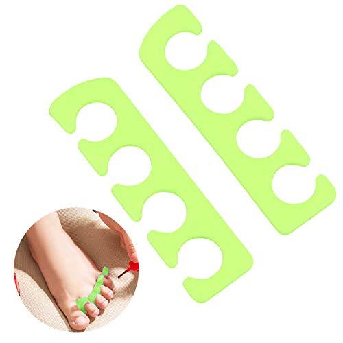 Silverback Zehen Lackierhilfe für Fußnägel Pediküre Damen Nägel Zehenspreizer Aus Silikon Zum Lackieren 2er Paar Grün