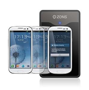 Zens ZESKS3W/00 induktives Ladegerät Set für Samsung Galaxy S III i9300 weiß