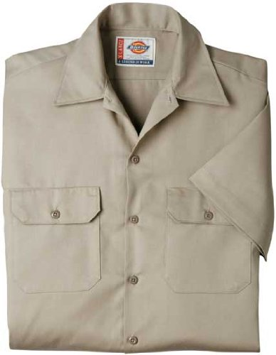 Dickies Large Khaki Mens Short Sleeve Work Shirt WS574KH LRG (Khaki Lrg)