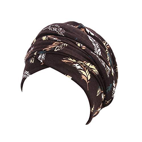 Fuibo Strickmützen für Herren und Dame, Frauen Schals Turban Cap Muslim Hijab Wrap Kopftuch Krawatte Hut Headwear | Basecap, Baseball Cap, verstellbar (Coffee)