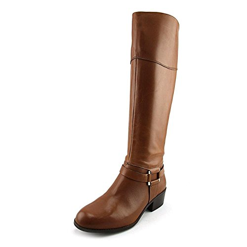Alfani Frauen Biliee Runder Zeh Leder Fashion Stiefel Braun Groesse 9 US/40 EU (Mid Slouch High Boot)