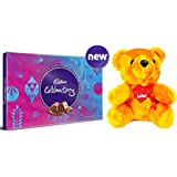 Cadbury - Valentine Gift Combo with Celebrations Assorted Chocolate Gift Pack, 203.5g & A Beautiful Teddy