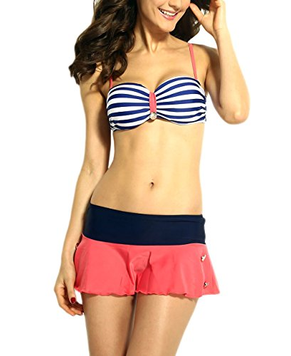 Zwei Badeanzug Stil nautisch - Suzy - DéclicShopping