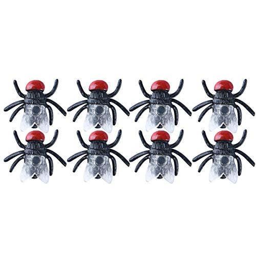 TOYANDONA 100 Stück Fliegen-Simulierte Insekten-Streck, Spielzeug für Kinder, lustiges Scherzspielzeug für Halloween, Party-Zubehör (schwarz) (Gute Halloween Witze Für Kinder)