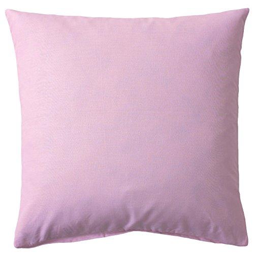 Kissenbezug, Uni, Baumwolle Linon, Reißverschluss, einfarbig, Kopfkissen, Dekokissen | 40x60 cm - Rosa