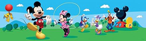 1art1 106565 Micky Maus - Mickey Mouse Selbstklebende Fototapete Poster-Tapete Bordüre 500 x 10 cm
