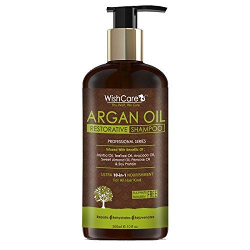 [Sponsored]Wishcare Argan Oil Restorative Hair Shampoo - 300 Ml - No Sulphates And Paraben