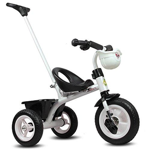 Enfants Tricycle Trolley 1-2-3-6 Ans Bébé Bébé Vélo Poussette GAOLILI (Couleur : Blanc)