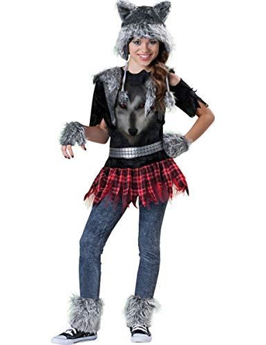 Werwolf Mädchen Kostüm - Generique - Premium Wolf-Kostüm für Mädchen 134/140 (8-10 Jahre)