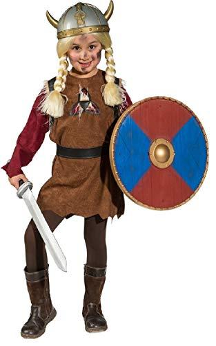 Kostüm Barbar - O5263-140-152 braun Kinder Wikinger Barbaren Kostüm Gr.140-152