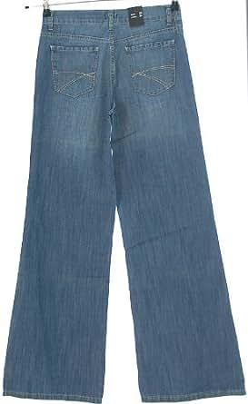Pantalon de kITARO jean 5 poches-jambe w26 l34 style marlene large bleu