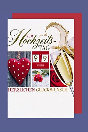 AvanCarte GmbH Hochzeitstage Drehzahlkarte Grußkarte Hölzern Perle Saphir Sekt C6