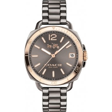 Coach 14502597 Ladies Tatum Grey IP Bracelet Watch