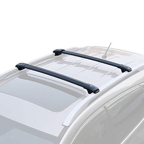 OLDF Gepäck Roof Rack Bars, Universal Car Wagon SUV Roof Top Rack Cross Bars Gepäck Carrier,Black,Honda