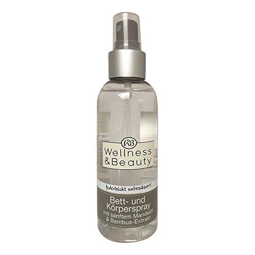 Wellness & Beauty Bett- und Körperspray mit Mandelöl & Bambus- Extrakt 150ml