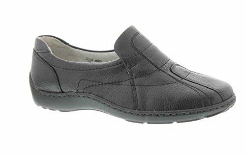 Waldläufer Damen Slipper Komfort Slipper Halbschuh Diverse Böden extra weit Pigalle 496504 172 001 schwarz 245541 (Damen-komfort-slipper)