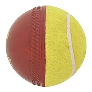 Omtex Swing Ball (Half Tennis) Cricket Training Ball Size 5.5. Diameter 2.5 cms