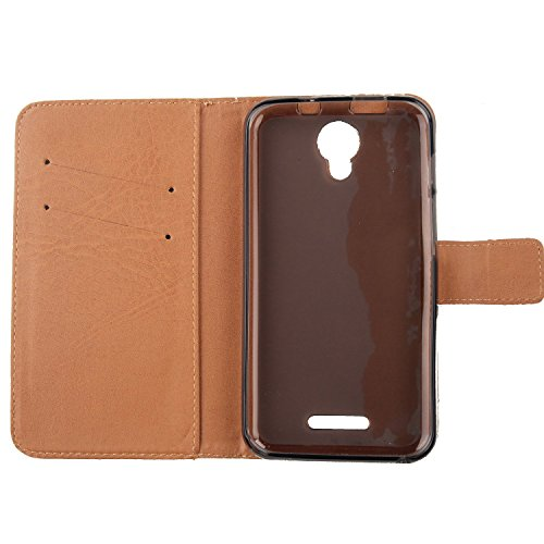 "Lankashi 3in1 Set Back Girl Design PU Cuir Coque Case Pour Alcatel One Touch Pixi 4 3G 5010D 5"" Housse Etui Cover Flip Verre Trempé Vitre de Protection écran Rétractable Mini Tactiles Capacitif Stylus Umbrella Girl"