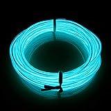 Lerway® 3M EL Wire Rope Landscape LED Lighting Weihnachten Licht Halloween Geburtstags Party Holiday Autobatterie Beleuchtet Flexibles Streifen Licht-Transparent Sky Blau