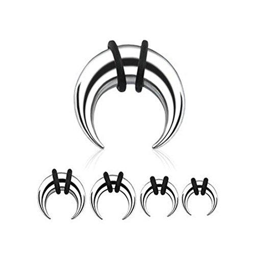 1x Piercing alargamiento Cuerno Taper Expander Oído Dilatación Acero Quirúrgico Tallas Elección, 2,0 mm