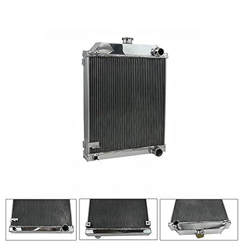 ALLOYWORKS Refroidissement du moteur en Aluminium Radiateur pour Jaguar MK7 MK8 MK9 3.4L ,3.8L L6 Engine 1959 1960 1961 (3 Rangées)