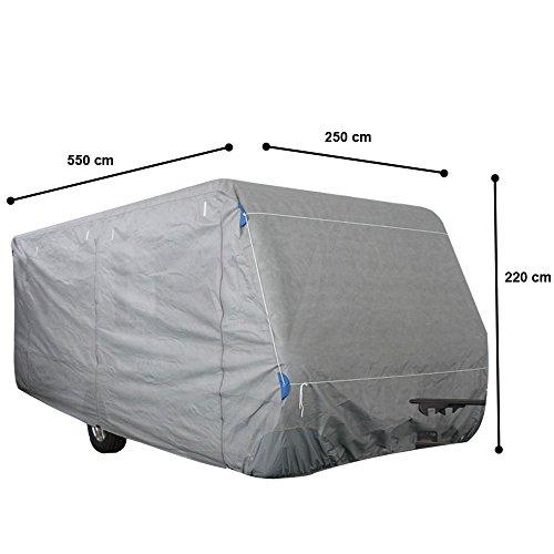 Hochwertige Wohnwagen Abdeck Plane Gr. M imprägniert Schutz Hülle PP-Vliesstoff Harms 506035
