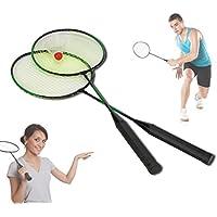 Coppia di racchette per badminton Volano con custodia a bretella per il trasporto basic. MWS
