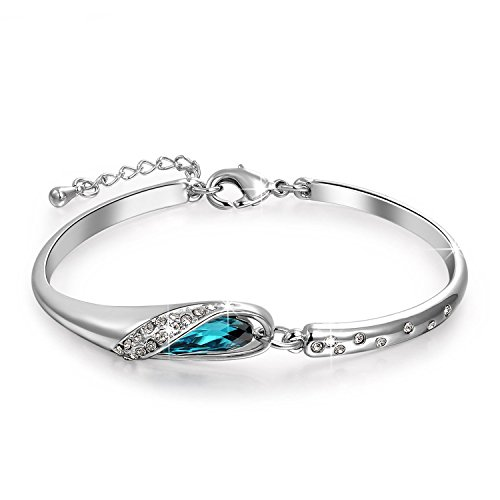 Valentine Gifts : YouBella Jewellery Valentine Collection Designer Crystal Bangle Bracelet For Girls and Women