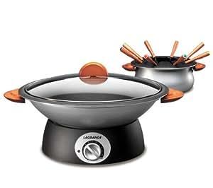 LAGRANGE Wok et fondue Classic + Lot de 8 spatules en bois 509100