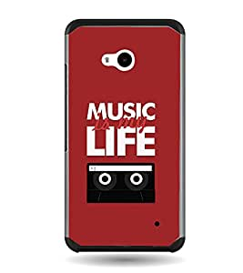 Fuson Music Is My Life Designer Back Case Cover for Microsoft Lumia 640 LTE (Love Quotes Inspiration Emotion Care Fun Funny)