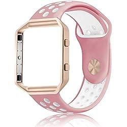 Correa de repuesto para reloj Fitbit Blaze™ Smart Fitness Watch, de silicona, suave, para reloj deportivo, para reloj inteligente