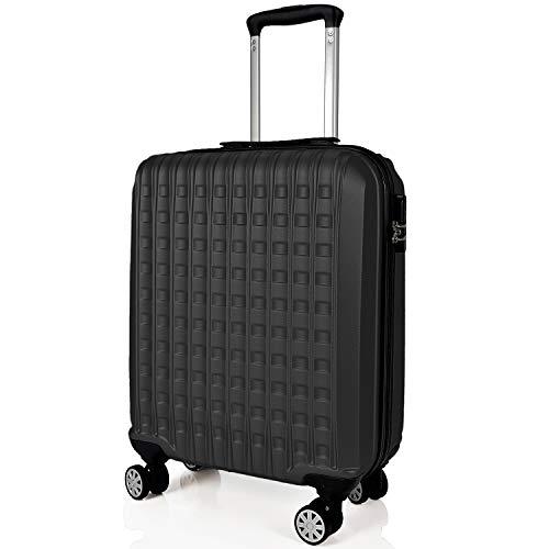 SIGN Wellsigned Reisekoffer Sondermaß Handgepäck, mit 4 laufruhigen 360° Doppelrollen (Grau, S)