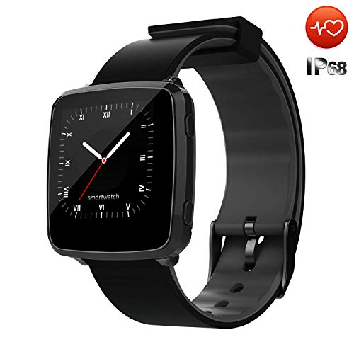 CanMixs Smart Watch impermeabile IP67 CM09 Tracker fitness con cardiofrequenzimetro cardiaco Pedometro Sonno Monitor Cronometro SMS Call Notification Remote Camera Music compatibile con iOS Android