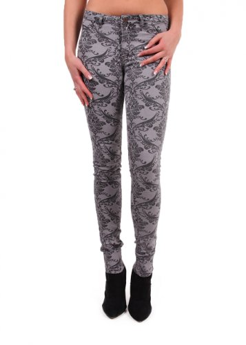 VILA CLOTHES -  Leggings  - Donna nichel spazzolato M