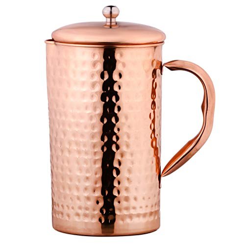 Amazon Brand - Solimo Copper Jug (Hammered, 1750ml)