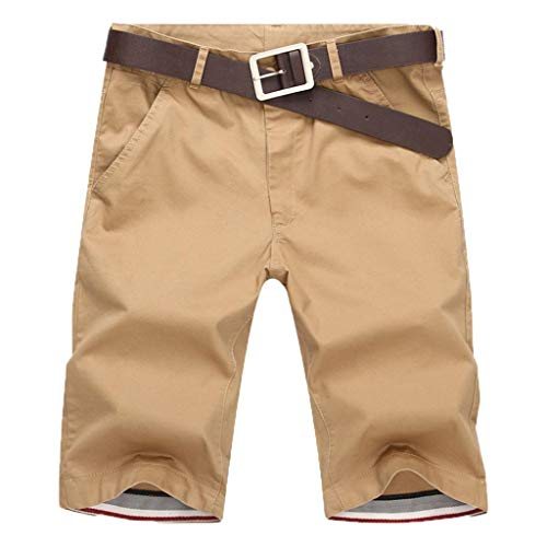 KPILP Herren New Sportswear Boxer Freizeithose Shorts Chino Breathable Mode Leichte Hosen Sommer Fitness Laufhose( Khika,S