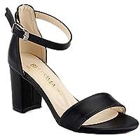 Ayakland Bsm 62 Siyah 7 Cm Topuk Bayan Cilt Sandalet Ayakkabı