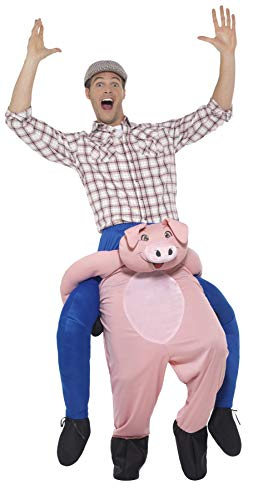 SMIFFY 'S 47157Piggyback Pig Kostüm, Pink, One ()