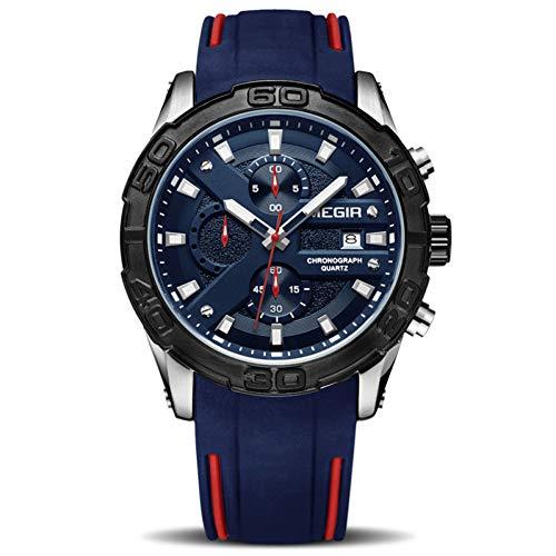 SBDONGJX Mode Sport Hommes Montre Relogio Masculino Armée Silicone Montres Militaires Horloge Hommes Montre à Quartz Montre Heure Heure Saat